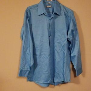 Bright blue Geoffrey Beene large dress shirt